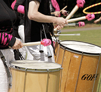 Fruity Clave samba band drums